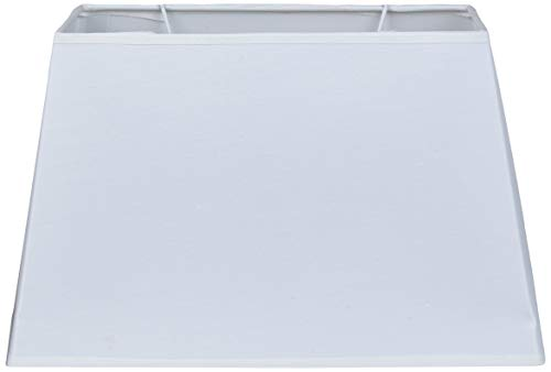 Better & Best 30X17 Abat-jour rectangulaire uni en coton Blanc 30 x 17 cm