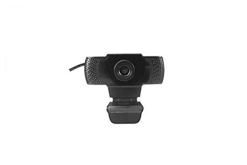 CoolBox CW1 – Webcam FullHD 1080p con micrófono para pc, 30fps, USB2.0 Plug&Play, Control de iluminación automático, Clip Giratorio.