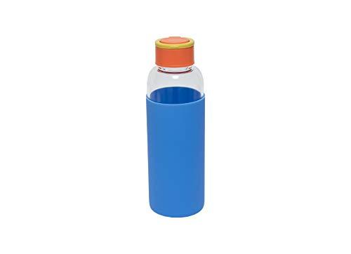 Fisura | Botella de Agua de Cristal con Funda de Silicona Eco-Friendly Reutilizable 480...