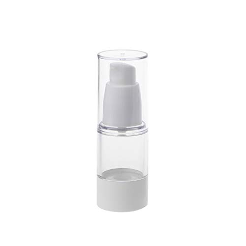 niumanery Epmty Vacuum Pump Toilet Vessel Cosmetic Bottle Mini Transparent Lotion Bottle 15ml