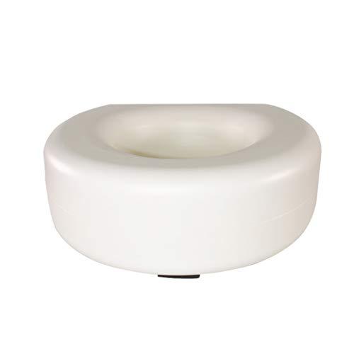 Toilettensitz und Rahmen WC Booster Pad Universal Free Installation ohne Armlehnen WC Booster Pad (weiß) Verstellbarer Toilettenstuhl