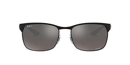 Ray-Ban Junior Herren RB 8319 Chromance Sonnenbrille, Schwarz (Negro Mate), 60