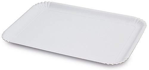 Guardini Monouso, 2 vassoi 33x43cm, cartoncino, Colore bianco