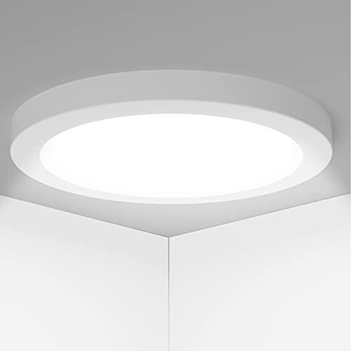 LED Lampada Soffitto 18W 1530LM Soffitto Plafoniera per Soggiorno Camera da letto Bagno Cucina Corridoio e Balcone Rotondo Bianco freddo 6000K Ø23cm [Classe di efficienza energetica A+]