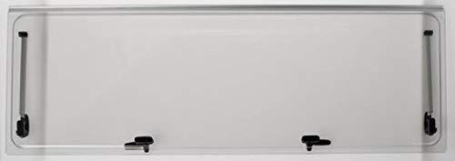 Vetro di ricambio 668x232 per finestra camper Seitz 700x300 - colore Grigio - compresi accessori