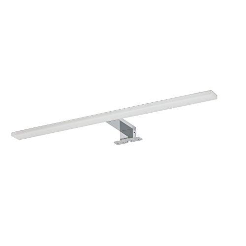 Tiger LED-Badezimmerleuchte Eros, Lampe zur Montage auf Spiegel oder Spiegelschrank, Metall, Chrom, 60 cm, 4000K ( Neutralweiß ), IP44