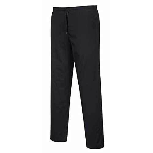 Carbonn A1000 - Pantalones de cocina elásticos Negro L