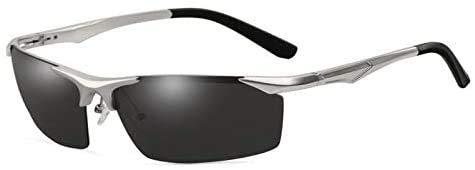 LEIXIN Squashbrille Gepolte Aluminium-Magnesium-Spiegel Sport Halb Rahmen Sonnenbrillen Angeln Radfahren Außen Brille (Color : B)