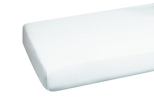 HEIKE 3459000 Mako-Jersey Spannbetttuch 90 x 190, 100 x 200, weiß