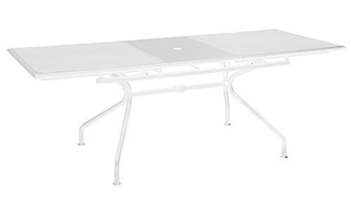 Athena Emu Ausziehbarer Tisch Art. 3428 cm. 160 + 50 x 90 Farbe Weiß Matt. Code 23