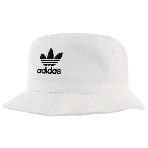 adidas Sombrero de Cubo Lavado para Mujer, Mujer Unisex, 976473, Blanco y Negro, Talla única