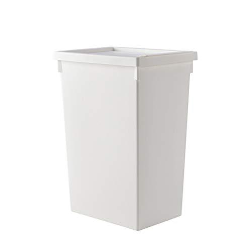 PP Kunststoff Wäschekorb Hämmer Waschplatz Regenschirm Rack Kleidung Spielzeug Speicherorganisator Box mit Deckel, Weiß (Größe : 32L)