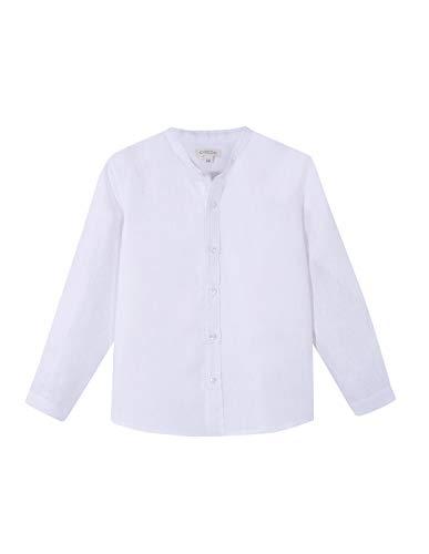 Gocco Camisa Cuello Mao, Blanco, 4-5 Años para Niños