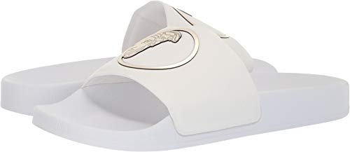 Price comparison product image Versace Collection Men's Medusa Pool Slide White / Light Gold / White 44 M EU