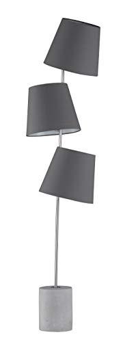 Preisvergleich Produktbild Fischer&Honsel Durak Stehleuchte,  Metall,  40 W,  nickelfarben