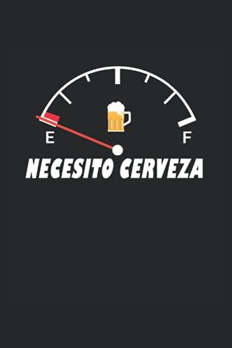 """Necesito Cerveza Divertida Pantalla de Tanque de Cerveza: Cuaderno   Cuadriculado   A cuadros (6 """"x9"""" (15,24 x 22,86 cm)), 120 páginas, papel crema, cubierta mate"""