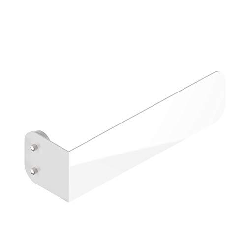 Universeller, magnetischer Handtuchhalter für vertikale Heizkörper - Aluminium Handtuchhaken - Weiß