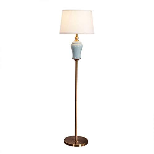 Lampara lectura pie salon,luz de piso, Lámpara de pie, de pie Lámpara de lectura, de dormitorio, sala de estar, Cuerpo de cerámica