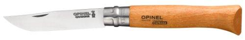 Opinel N Degree12 Bechwood Handle Carbon Steel Knife, 12 cm Blade