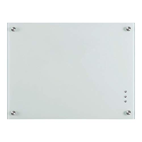 QUEENLINK,Magnetic Glass Board,Glass Whiteboard Board, 36x 24 Inches Glass Dry Erase White Board, Normal White…