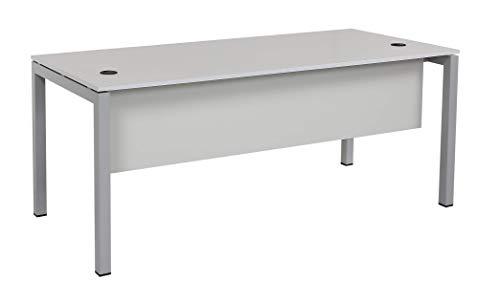 Furni24 Schreibtisch Tetra 160 cm grau Homeoffice Seminartisch Computertisch einfache Montage