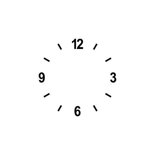 Ziffern Zahlen 3cm + Striche schwarz Tattoo Aufkleber Deko Folie Uhr Besteln Zifferblatt