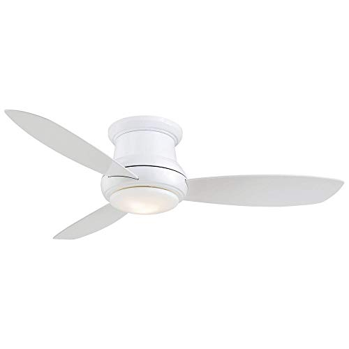 Flush Mount White Ceiling Fan