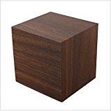 Zantec Digital Square Cube Mini Brown Wood Rojo LED