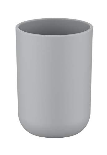 WENKO Bicchiere portaspazzolini Brasil grigio - infrangibile, TPE, 7.3 x 10.3 x 7.3 cm, Grigio