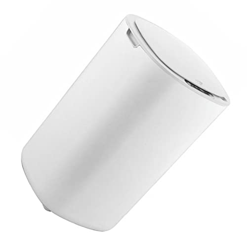 Homoyoyo Cubo de Basura de Cocina con Sensor de Movimiento Automático Abrir Tapa Cierre Cubo de Basura Bolsa de Basura para Baño Dormitorio Sala de Estar Oficina Blanco 12L