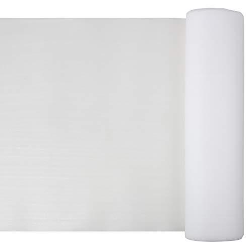Trittschalldämmung PE für Laminat und Holzfertigböden - 1 m x 25 m (25m²) - einfache Verlegung - Fußbodenheizung - Trittschall 17 dB - Stärke 2 mm