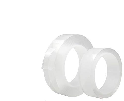 NO LOGO LT-Home, 2ST Wiederverwendbare doppelseitig klebendes Klebeband Nano Traceless Magic Tape entfernbarer Aufkleber 1mm dick (Größe : 2PCS 2M)
