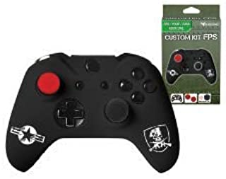 Subsonic SA5448 Silicone Cover Skin Anti-Slip for Playstation 4 Controller, Flexible Protective Case with 2 Joystick Thumb Stick Caps and 1 Precision Cap for Xbox One/Xbox One S/Xbox One X, Camo, FPS