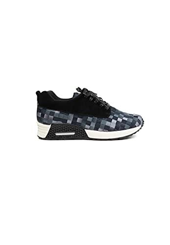 B M BERNIE MEV NEW YORK Women's Carly Shoes - Carly es una Deportiva Zapatilla Ultra Ligera, Confort, perfercto para Caminar, con Plantilla de Memory Foam y Suela Ultra Ligero (40 EU, Black Ombre)