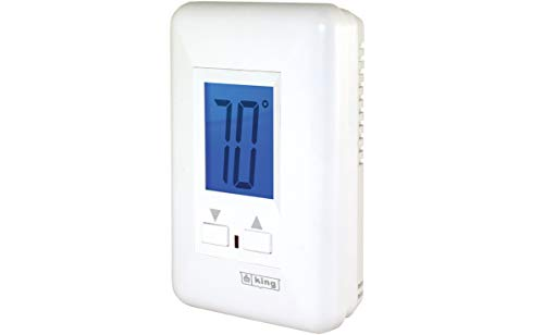 KING ES230-R MAX22 Electronic Line Voltage Non-Programmable Thermostat, 3-Wire, 208/240V, 22A