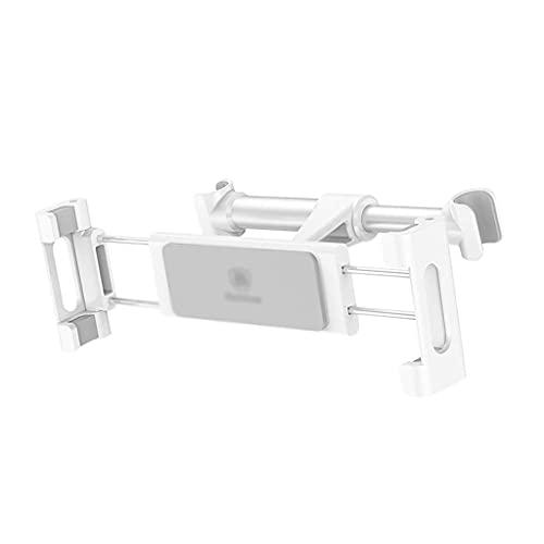 Diaod Soporte del Coche - Coche reposacabezas Trasero del Asiento Trasero de la Tableta móvil Estructura de Soporte Teléfono (Negro, Blanco, Rojo) (Color : White)