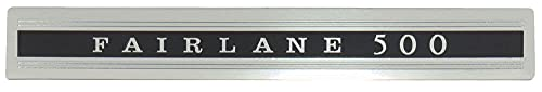 MACs Auto Parts 42-83621 Fairlane 500 Door Panel Emblem, Peel And Stick,