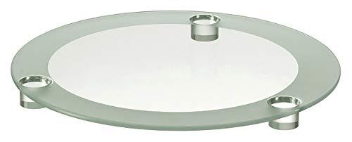 Leonardo Spirit Tortenplatte, Durchmesser 33 cm, handgefertigt, satiniertes Glas, 095590