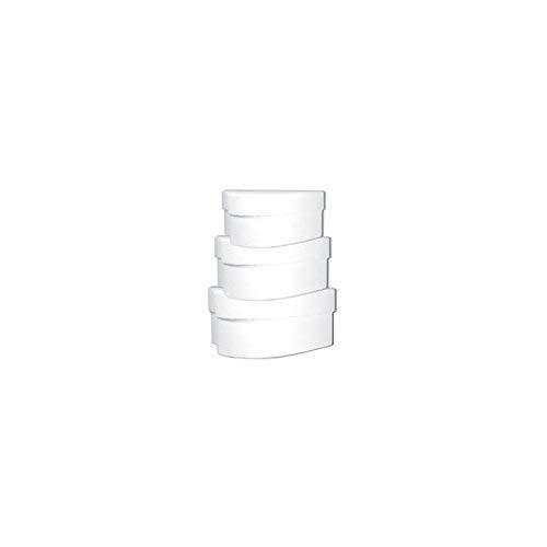 Ursus 17790099 - Geschenkkartonset mini herz, blanko, 3 Kartons sortiert in 3 Größen