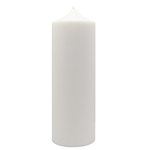 ILY Nature's Light Natural & Unscented White Soy Pillar Candle LIBERTY by 160 Hour Burn Time 2.75 x...