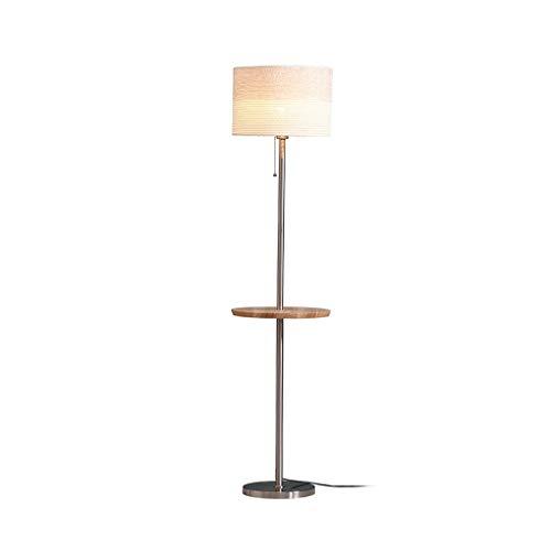 Staande lamp met salontafel Living Room Nordic Modern Verticale Light Slaapkamer Nachtlampjes Creative Storage Permanent Light Thuis High Pole Light DZE (Color : Khaki, Size : 35cm*153cm)