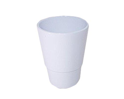 Cotto e ceramica Vaso Orchidea Diametro 13 Cm Altezza 18 Cm (Bianco)