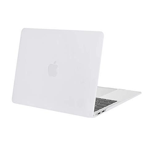 MOSISO Custodia Rigida Case 2020-2018 MacBook Air 13,3 Pollici Retina A2337 M1 A2179 A1932,Plastic Case Cover Rigida Copertina Compatibile con MacBook Air 13 con Retina&Touch ID, Bianca