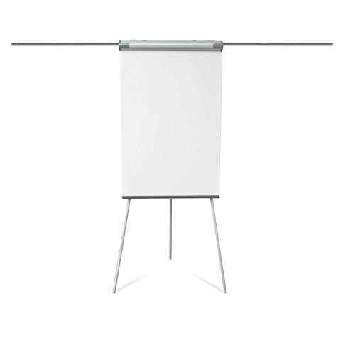 Chevalet de conference Master of Boards® paperboard + tableau blanc magnétique | trépied réglable | bras aimantés pliables | Coyote, 105x68cm (hauteur max.188cm)