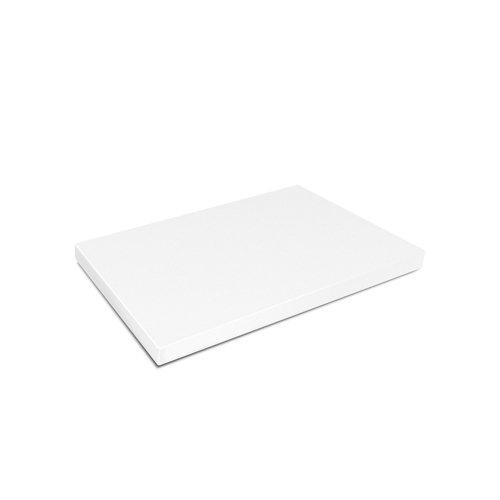 Kesper 30141 Planche à Découper Plastique Blanc 32,5x26,5x1,5 cm