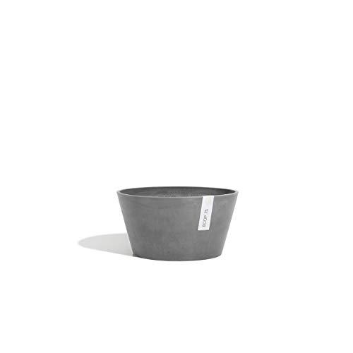 Ecopots Pot de fleurs Berlin - Diamètre : 31 cm - Gris - En plastique recyclé - En poudre de pierre