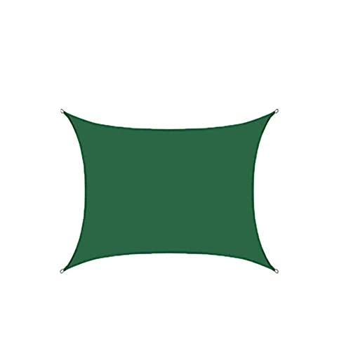 Parasol para velas toldo impermeable para parasol hecho de poliéster de alta calidad efecto protector solar al 95% impregnado de PU a prueba de polvo y viento verde oscuro 3 x 3 m