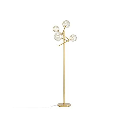 YWSZJ Lámpara de Piso Moderna G4 Amber Lámparas de pie de Vidrio de pie Sombrero de Vidrio de pie Sombra de Metal Lámpara de pie Lámpara de Esquina Luz de la Esquina Casa de la casa