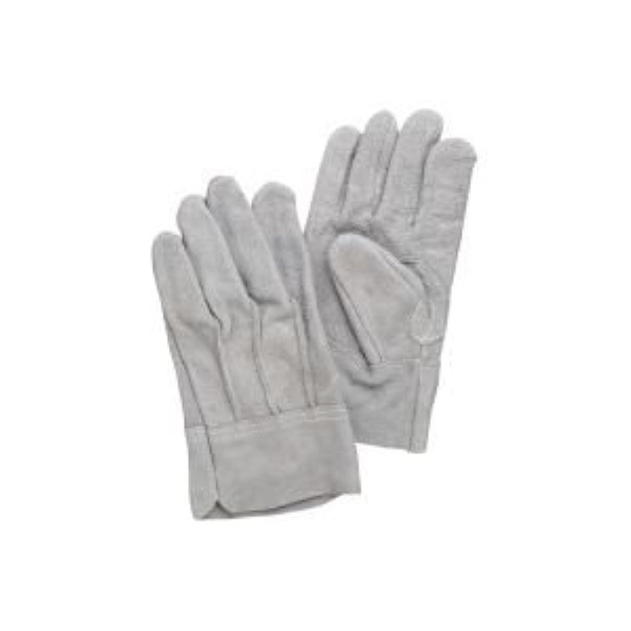 狂ったリングバックかび臭い( お徳用 100セット ) 熱田資材 革手袋床革手袋 背縫い NO.11 グレー