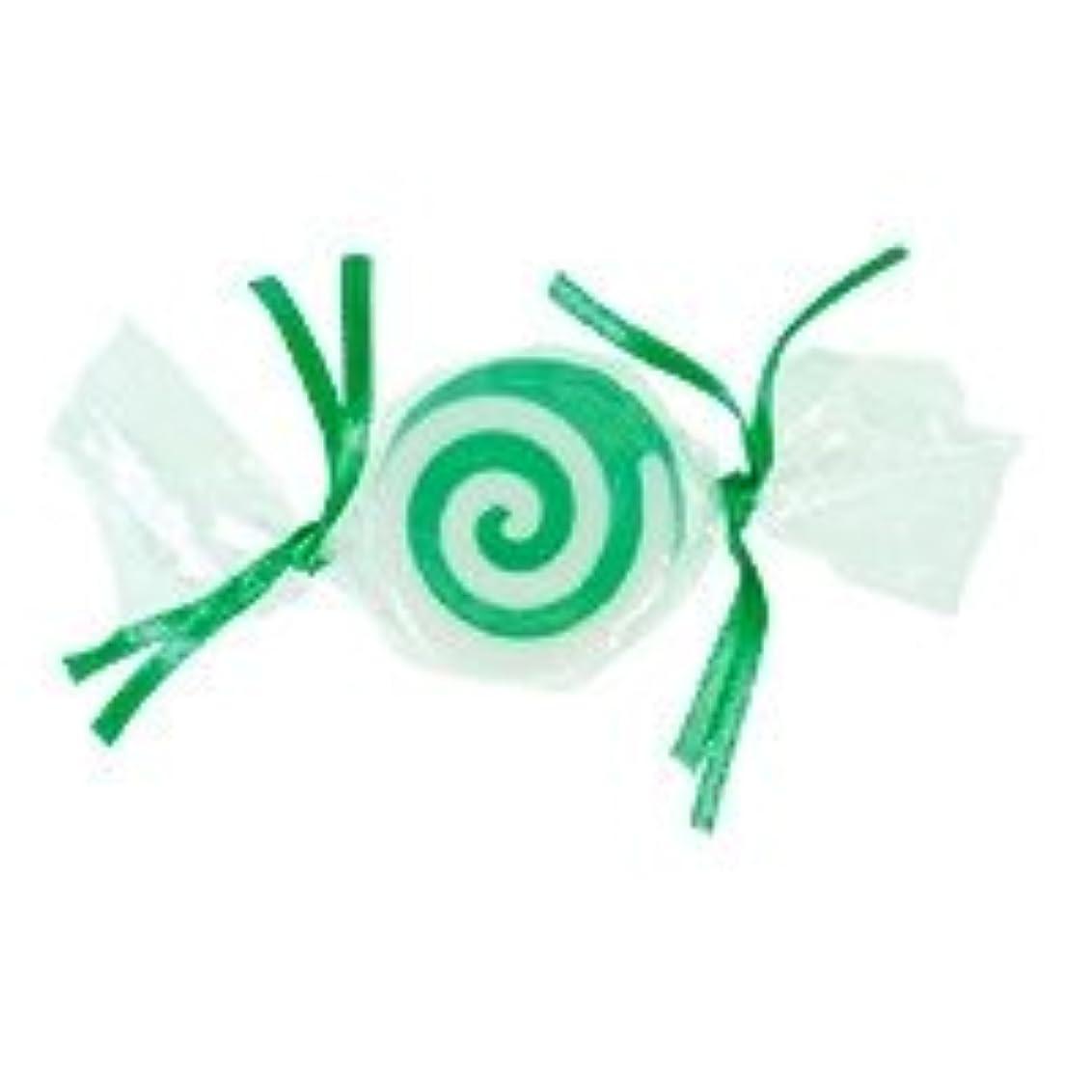 宿泊施設食料品店医療のベジタブルソープ キャンディ「グリーン」20個セット グリーンアップルの香り